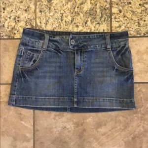 American Eagle Jean Mini Skirt